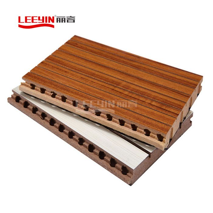 Wooden Grooved Acoustic Panel for Wall & Ceiling