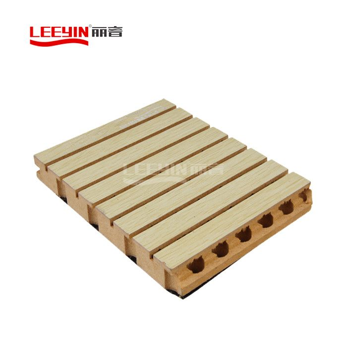 13-3mm MDF Wooden Grooved Acoustic Panel with FR MDF