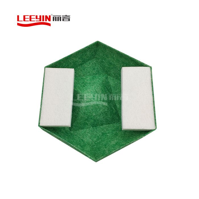Hexagon Shaped 3d Acoustic Polyester Wall Panel