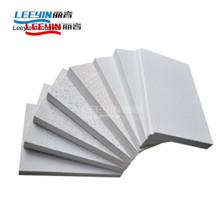 Decorative mineral fiber acoustic board fiberglass panels soundproof ceiling tiles for ceiling and wall