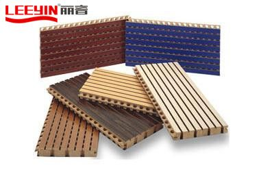 Installation process of grooved wood acoustic panel