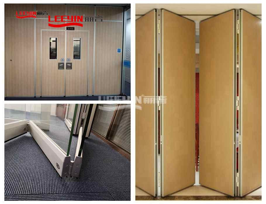 Wooden acoustic movable walls soundproof room dividers