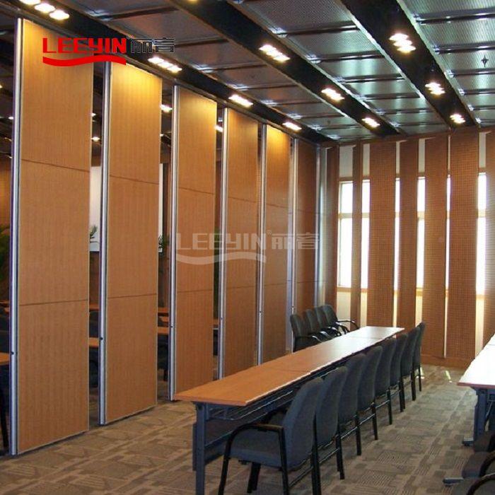 Office acoustic sliding folding partition