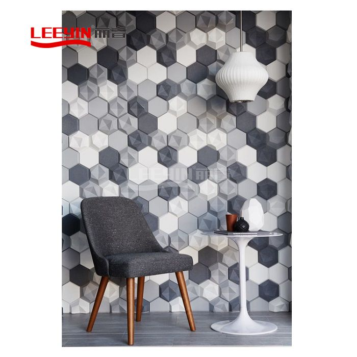 3d acoustic wall panels polyester fiber acoustic panel