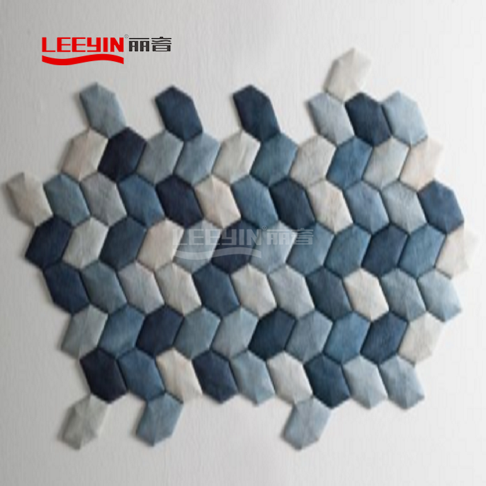 Sound absorbing wall decor 3d acoustic wall panels