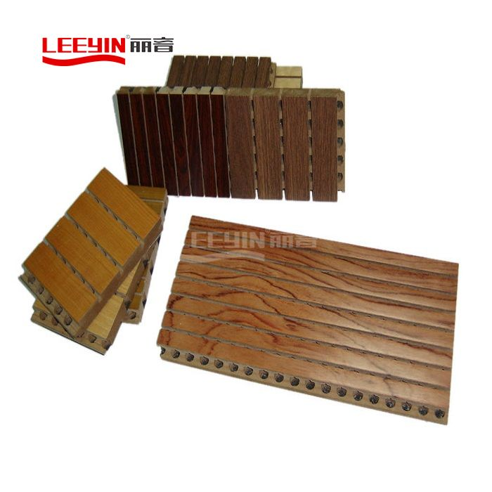 Wooden Grooved Acoustic Panel Sound Deadening Panels