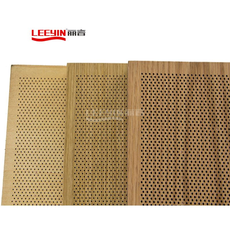 FR MDF acoustic project wall perforated acoustic panel