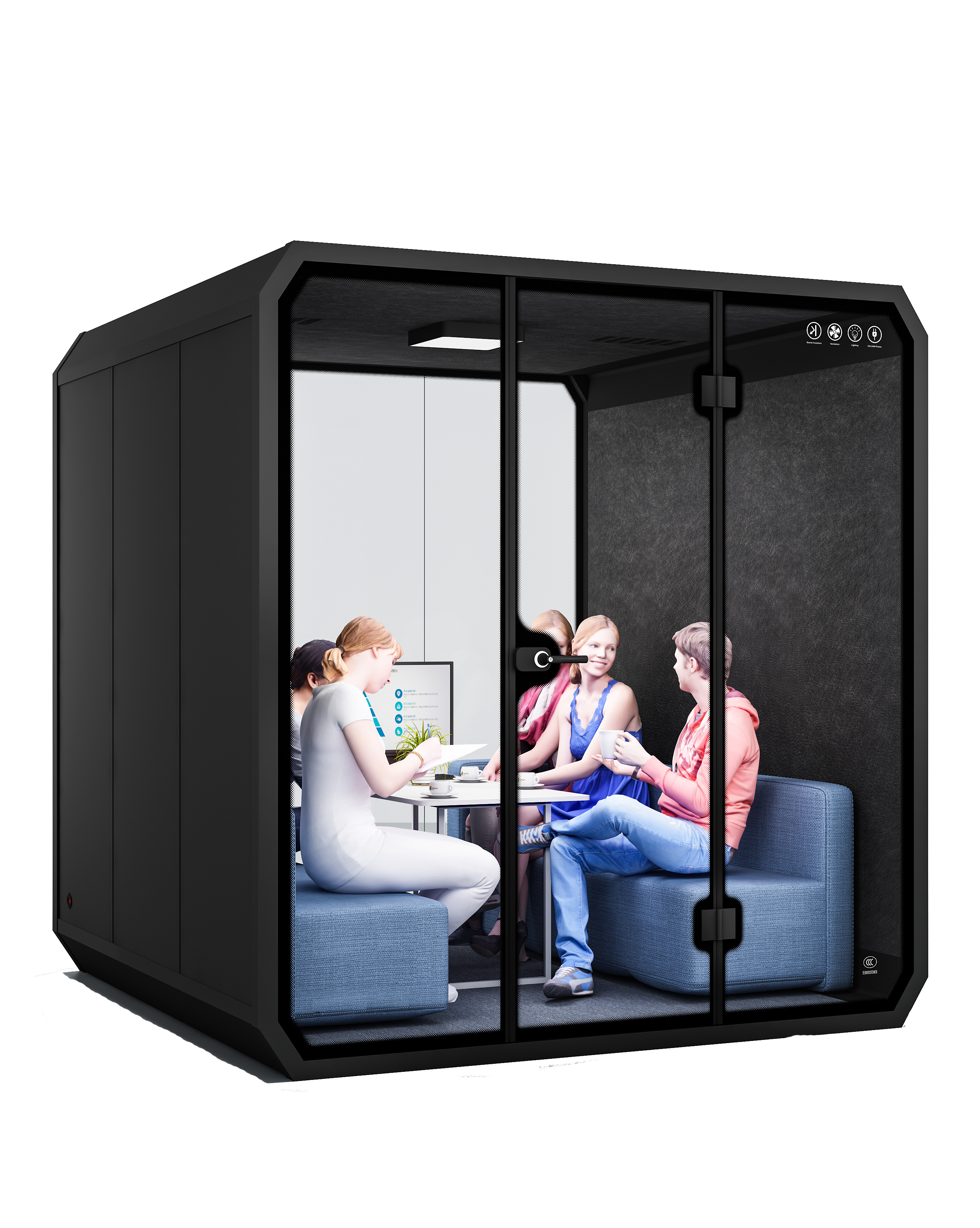 Portable sound recording soundproof drum booth