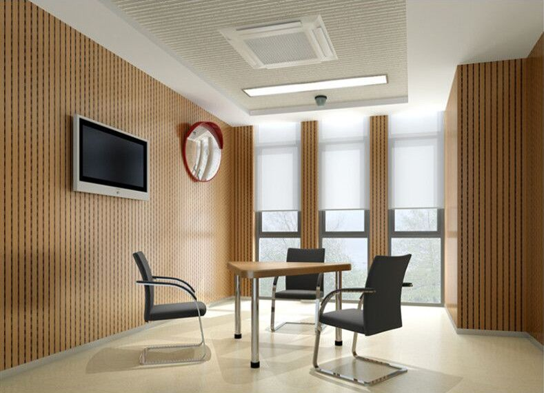 28-4 Soundproofing Wooden Grooved Acoustic Panel