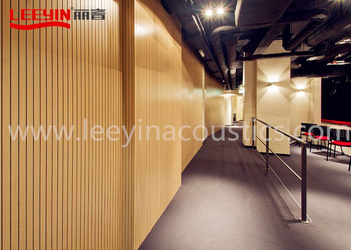 Wooden Grooved Acoustic Panel for Wall