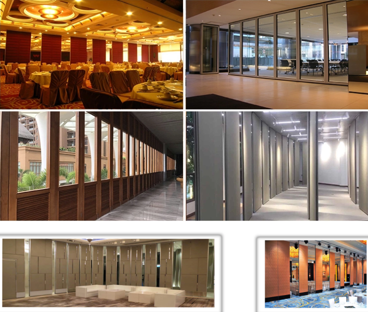 Ultrahigh Type Collapsible Sliding Partitions Wall