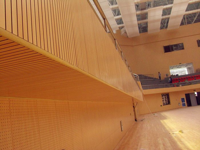 Grooved Acoustic Wall Panels for Stadium
