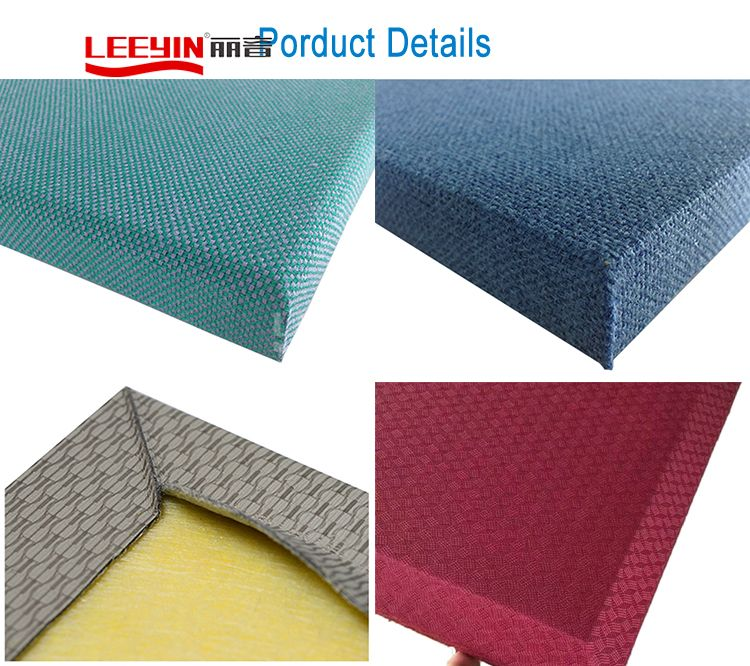 Acoustic fabric wrapped sound absorption panels Fabric wrapped acoustic panel