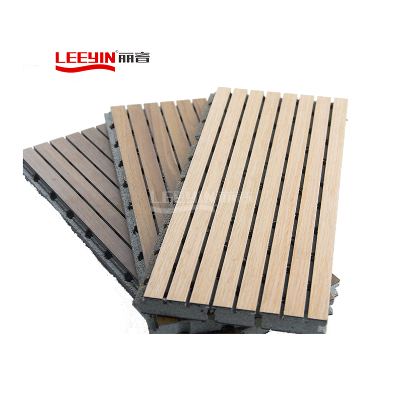 13-3 Grey MGO Wooden Grooved Acoustic Panel